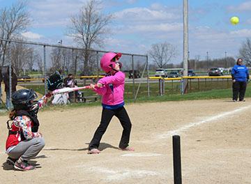 Player Hitting Ball