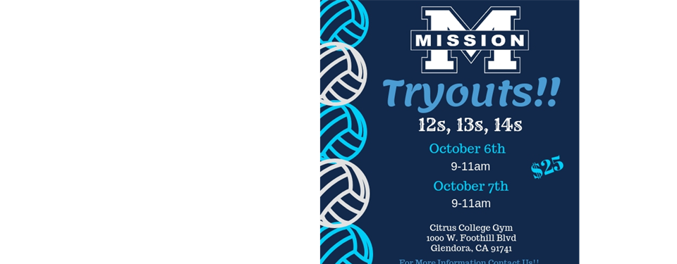 Tryouts! 12s, 13s, 14s