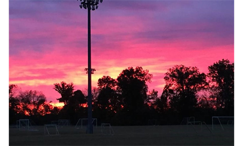 Sunrise at the Grimes Complex