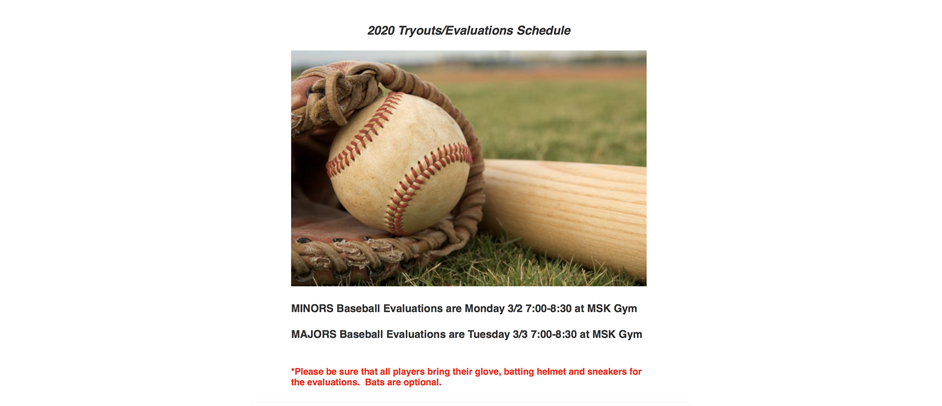 2020 Baseball Evaluations