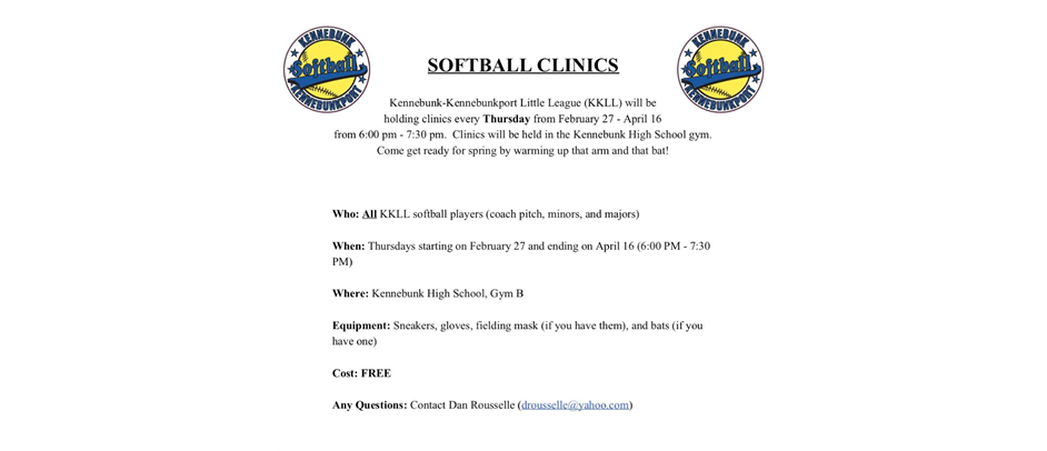 2020 Softball Clinic