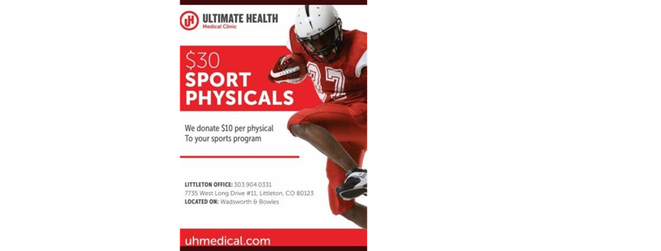$30 Sports Physical (303) 904-0331