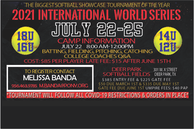 2021 PONY Softball International World Series