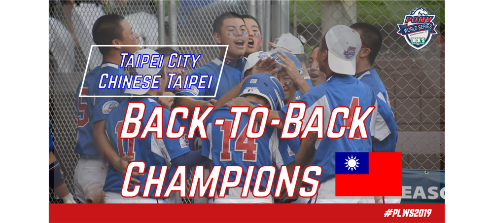 Back-to-back! Taipei City, Chinese Taipei is your 2019 DSGPLWS Champions!