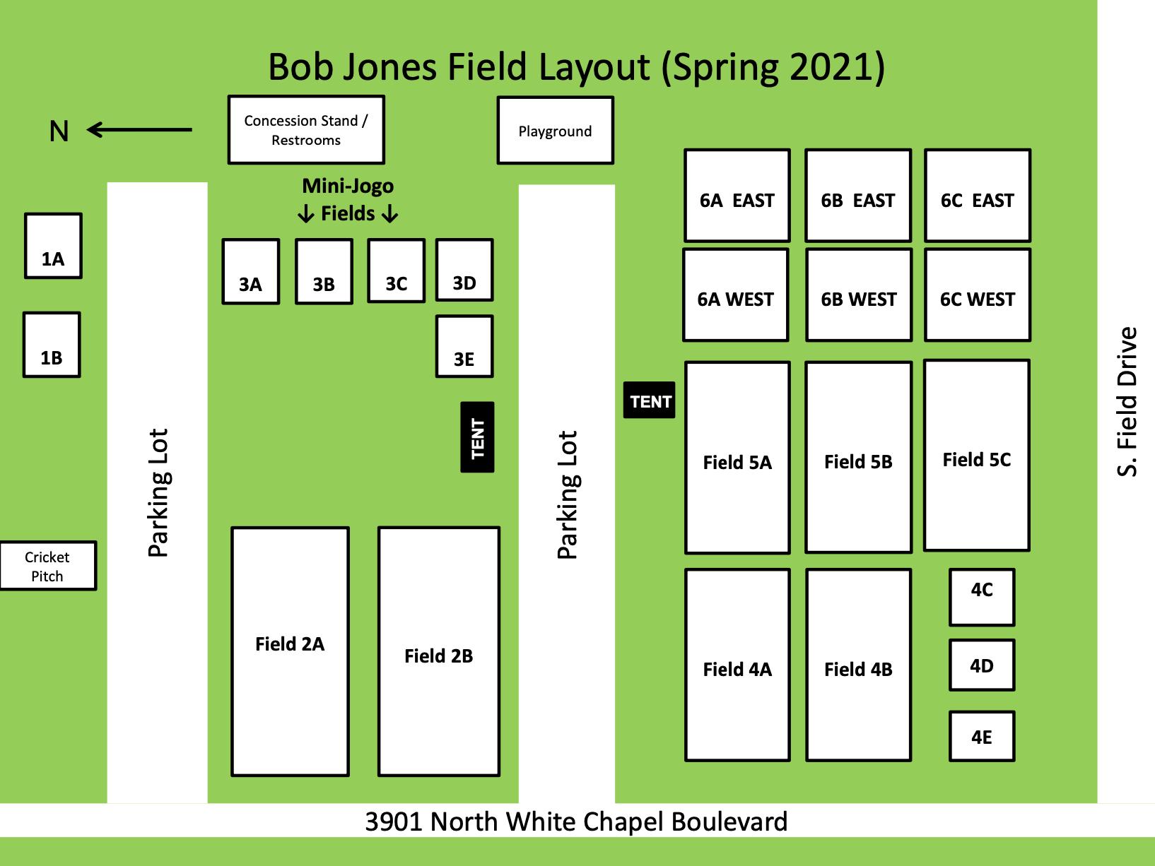 GSSA Bob Jones field layout 2021