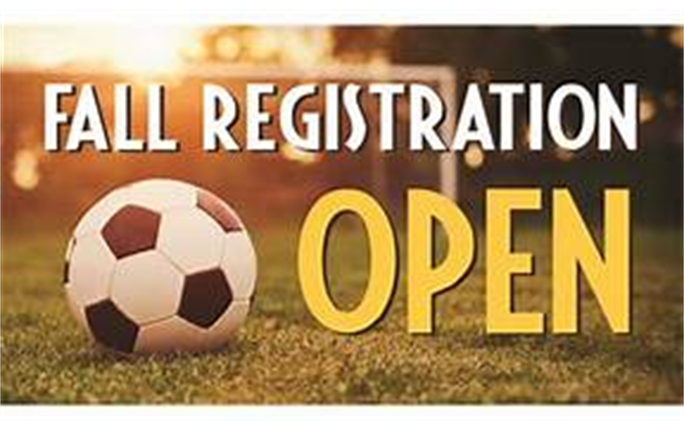 Fall Soccer Registration open now