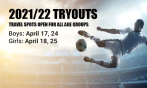 Travel Tryouts - April 17/18 and 24/25!