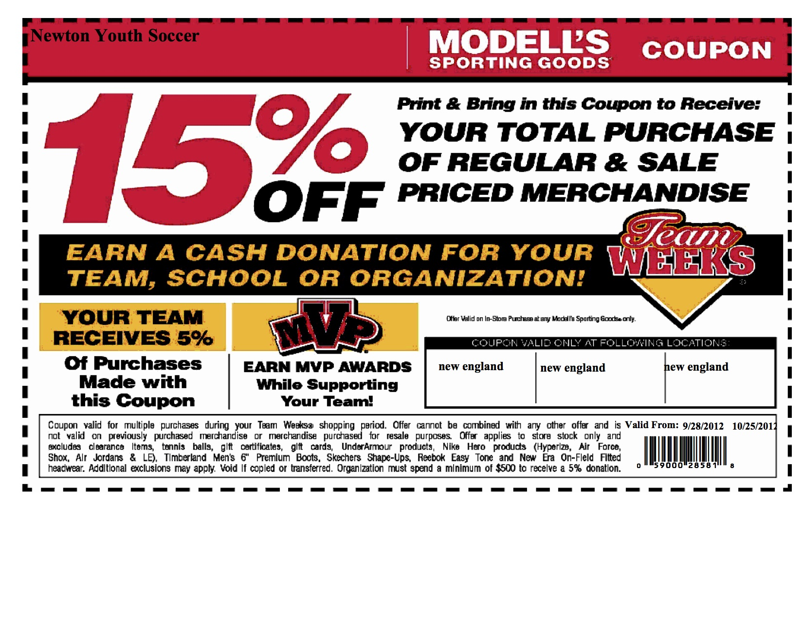 Modell's Printable Coupons 2014