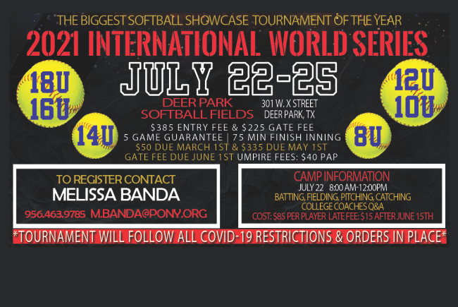 2021 PONY International Softball World Series