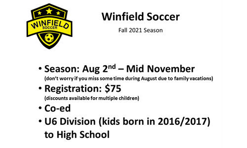 Fall 2021 Registration is OPEN!