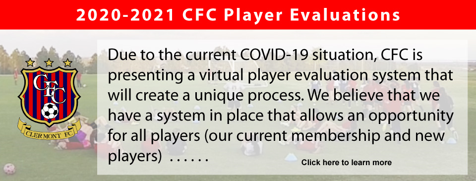 2020-2021 CFC PLAYER EVALUATIONS