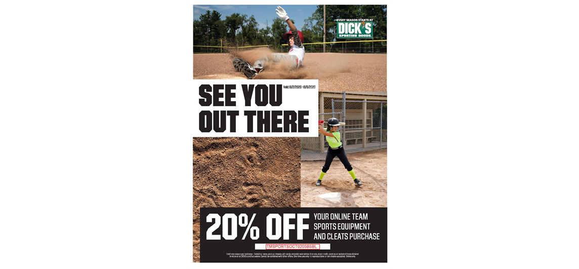 Save 20% This Weekend at Dick's!