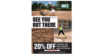 SAVE 20% THIS WEEKEND AT DICK'S