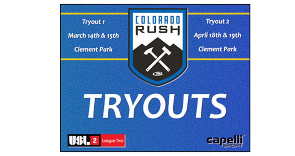 Colorado Rush Announces Tryouts for USL 2