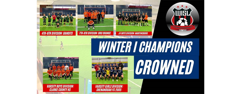 Winter I Champions crowned this weekend.