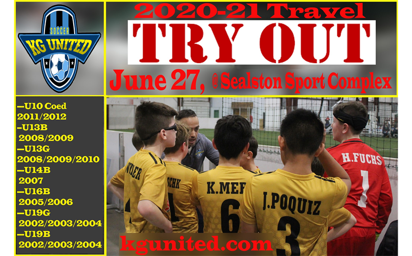 We have scheduled 2020-21 Travel Tryout for June 27th. FREE tryouts are for all age groups, Boys & Girls 9 to 19