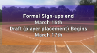 2019 Sign-ups extended until March 16th