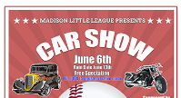 Car show moved to June 6th.