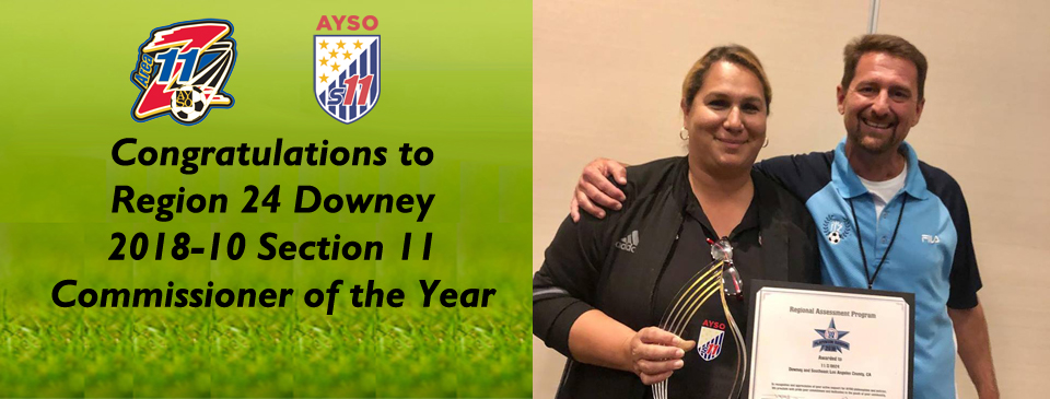 Region 24-Downey S11 Commissioner of the Year