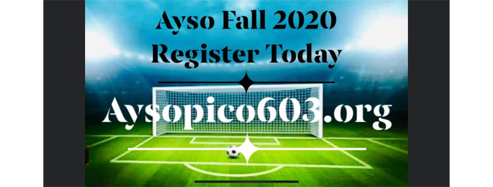 AYSO 2020 FALL REGISTRATION