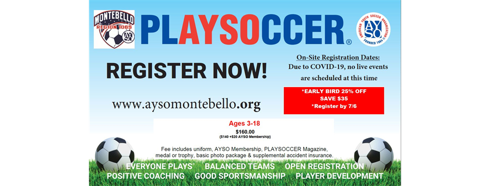 FALL 2020 REGISTRATION NOW OPEN!!