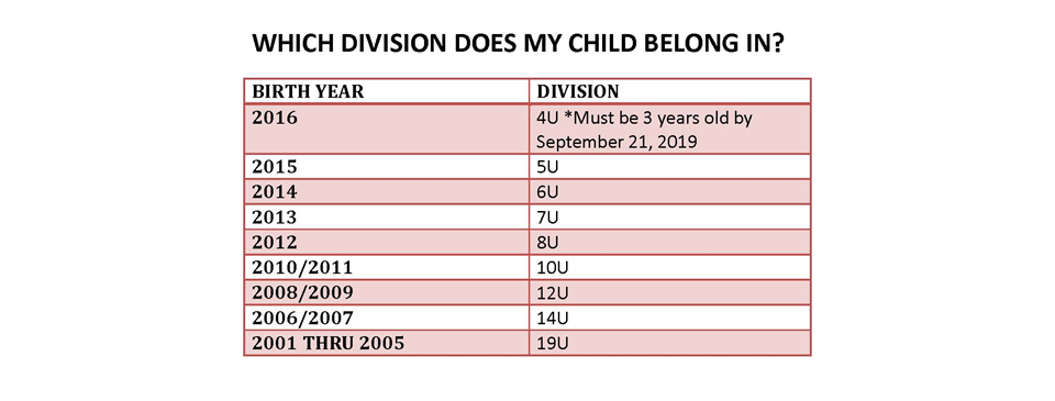 Which Division Does My Child Belong