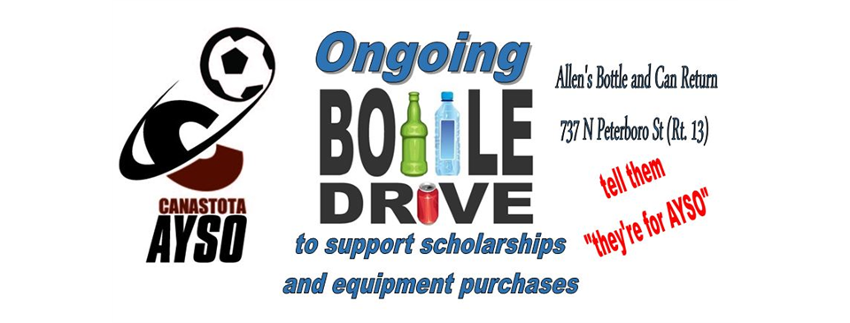 Ongoing Bottle Drive Fundraiser