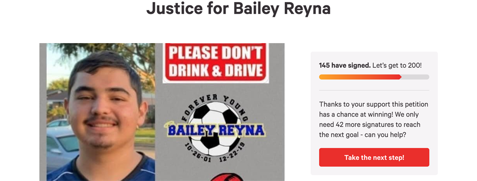 Justice For Bailey Reyna