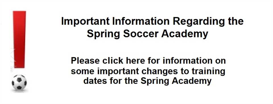 Important Update for the Spring Academy