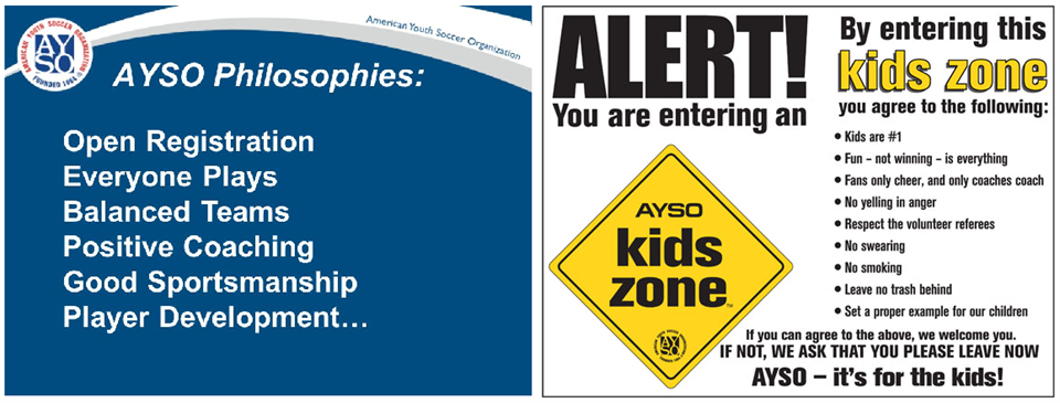 AYSO Philosophies and Kids Zone Pledge