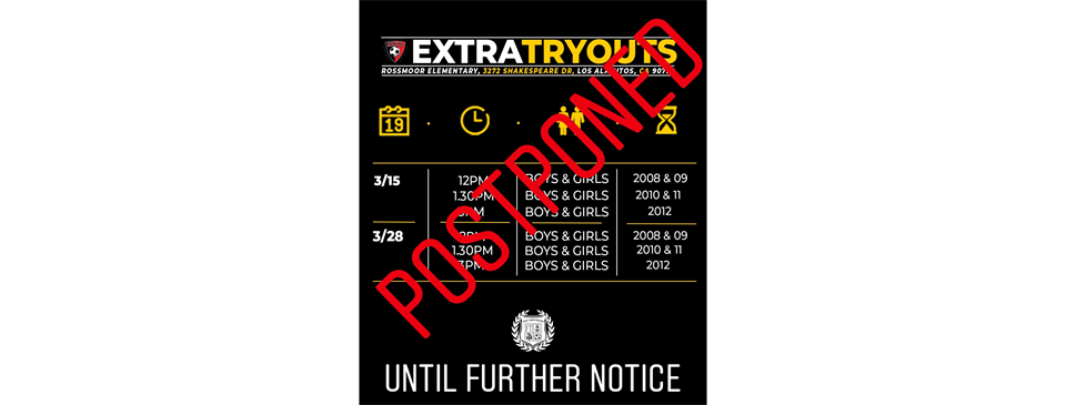 Postponed - 2020 Extra Tryouts