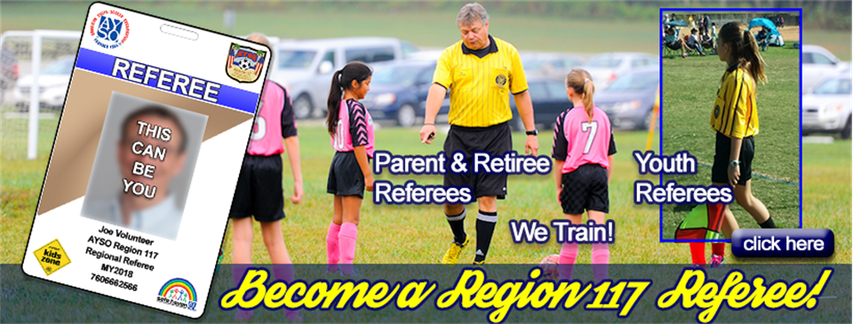 Become A Region 117 Referee