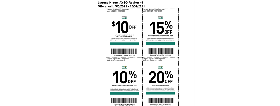 Dick's Sporting Goods Coupons - EXP. 12/31/2021