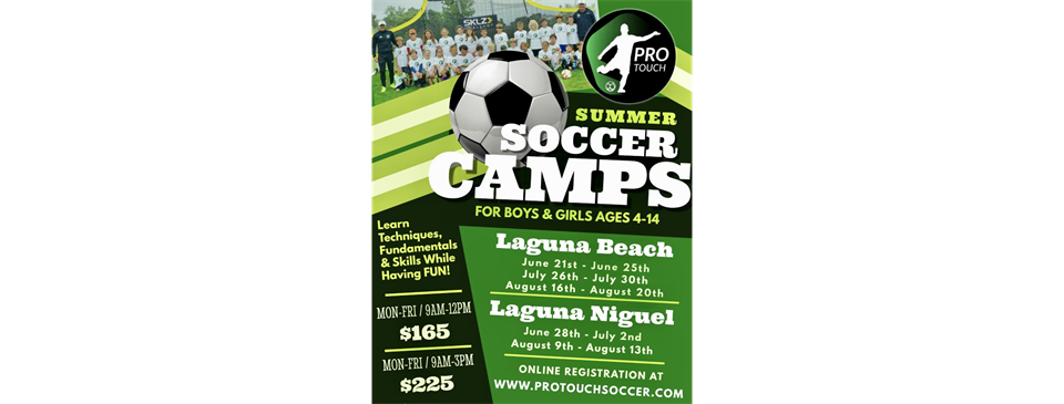 Pro Touch Soccer Summer Camps