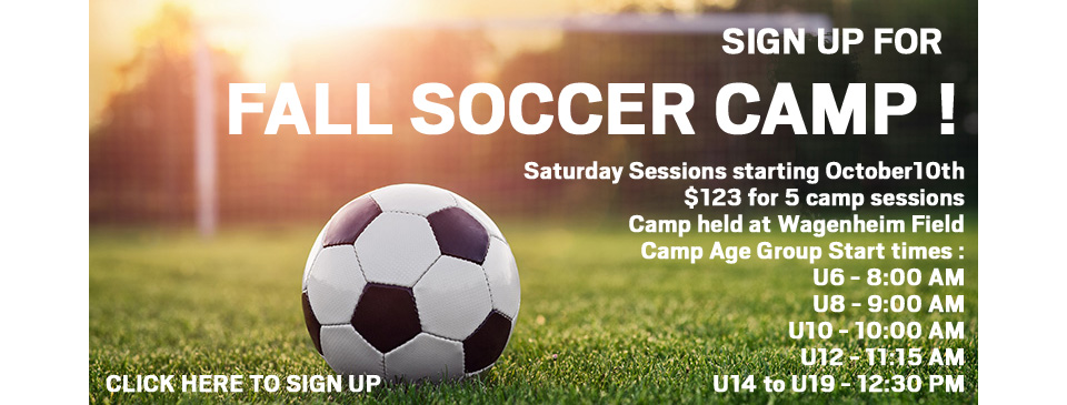 Sign up for Fall Soccer Camp!