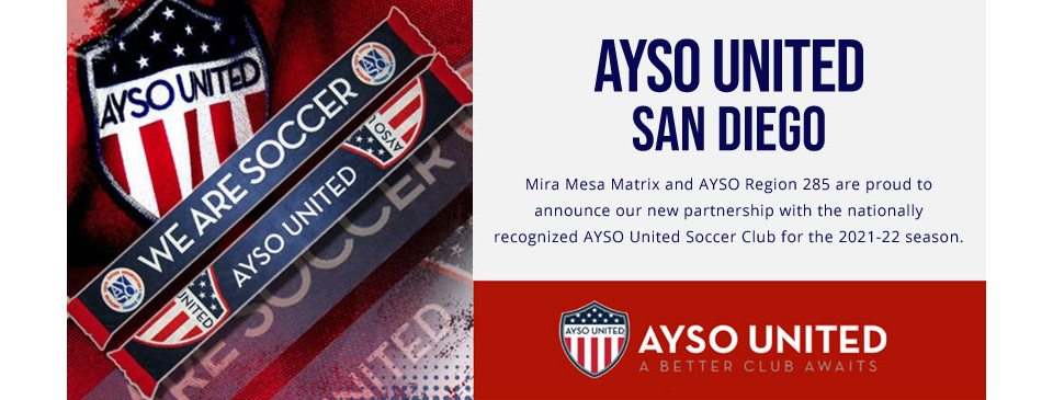 Mira Mesa AYSO Partners with AYSO United!!!