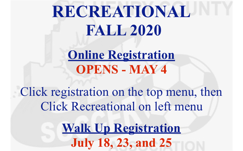 Fall 2020 Recreational Registration