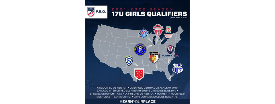 Congratulations To The 06, 05, and 03 Girls For Pre-qualifying For US Youth National League P.R.O!!