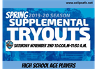 Spring 2020 Supplemental Tryouts - HS Age Players