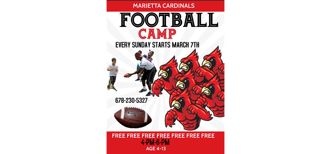 Cardinals Free Speed and Agility camps starts March 7th 4-6