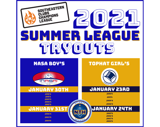 SCCL SUMMER LEAGUE TRYOUTS