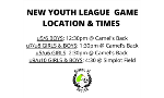 New game time & location for Youth League Games