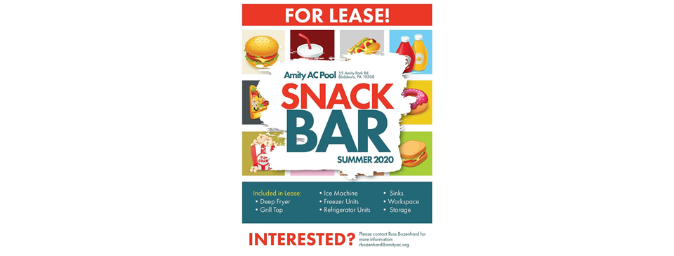 Snack Bar for Lease - Summer 2020
