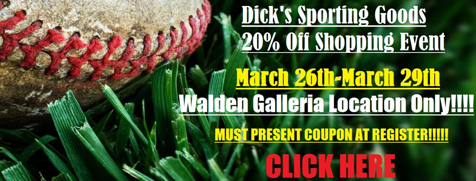 20% Dick's Shopping Event!