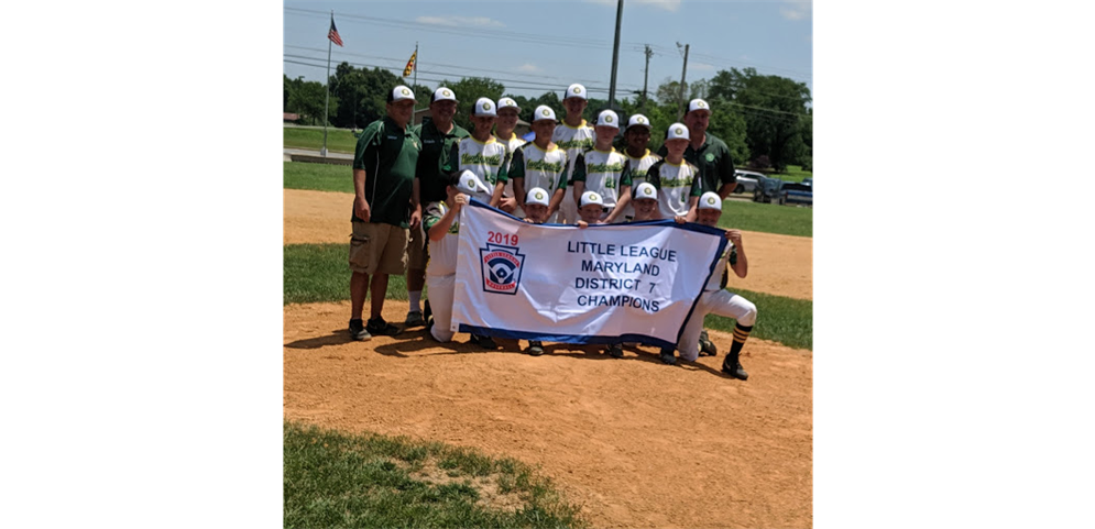 2019 MD7 10-12 Little League Baseball District Champions