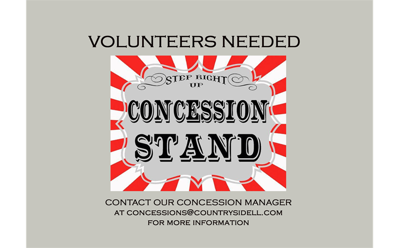 Concession Stand Volunteer Sign Up