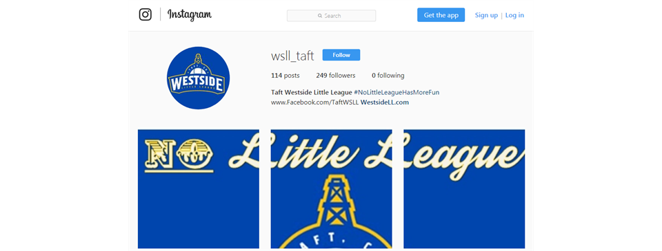 Follow Us on Instagram @WSLL_Taft