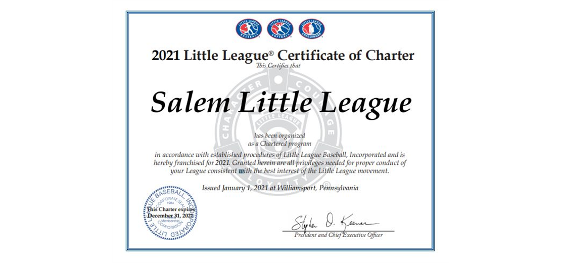 Our league is chartered for 2021!