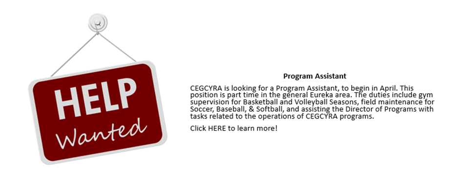 Help Wanted! - Program Assistant