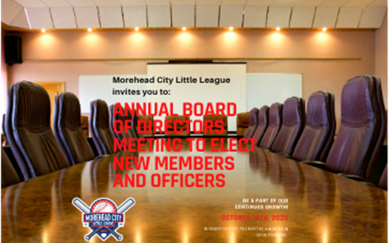Annual Board Meeting October 13th